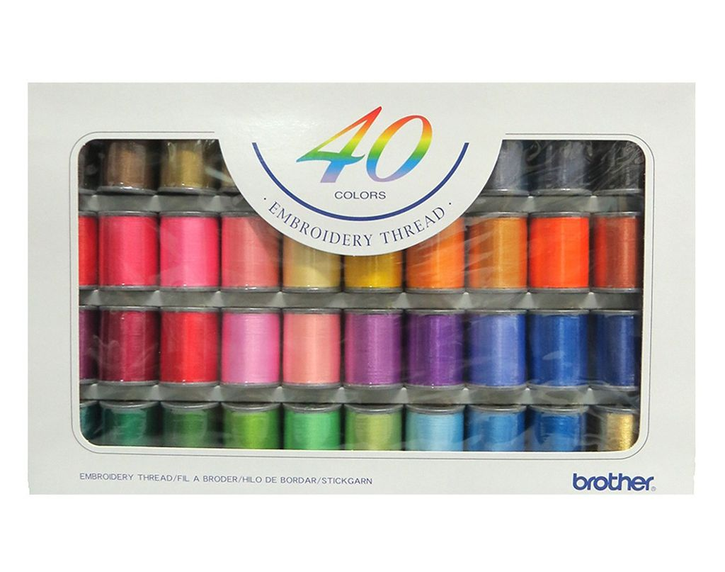 Chỉ thêu 40 màu Brother ETS-40N (Embroidery Thread 40 Color Set)
